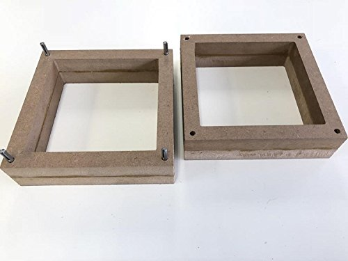 2-Part Foundry Wood Flask Mold for Sand Casting Jewelry Or Craft Making Tool 6''x6''x4'' by SlipGrip (Image #3)