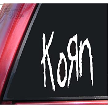 Amazon Com Korn Vinyl Decal Sticker 6 Quot X 5 2 Quot White