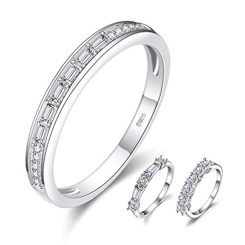 JewelryPalace 0.3ct Cubic Zirconia Half Eternity Channel Set Ring 925 Sterling Silver Wedding Band ()