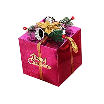 remeehi christmas gift boxs decorations christmas showcase decorative present boxes with bell ornaments 15cm - Decorative Christmas Gift Boxes