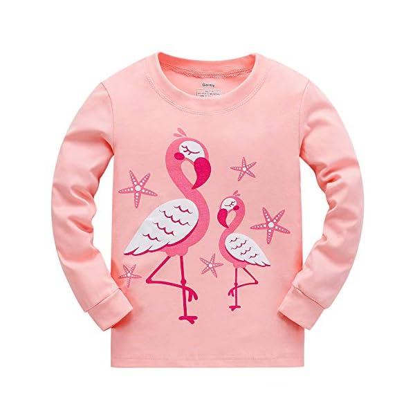 "Tkiames Bambine ""Giraffa"" 2 pezzi Pigiama a maniche lunghe per ragazze Pajama Set 100% cotone 2"