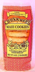 Maui Cook Kwees Macadamia Nut Cookies with Lauhala Gift Basket