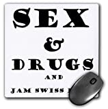 3dRose Taiche - Greeting Card - Humor - Sex and Drugs and Jam