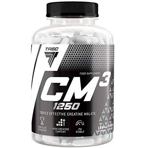 Trec Nutrition CM3 Creatine Malate Kreatin Malat Trikreatin 1er pack x 180 Kapseln Bodybuilding Weightlifting…