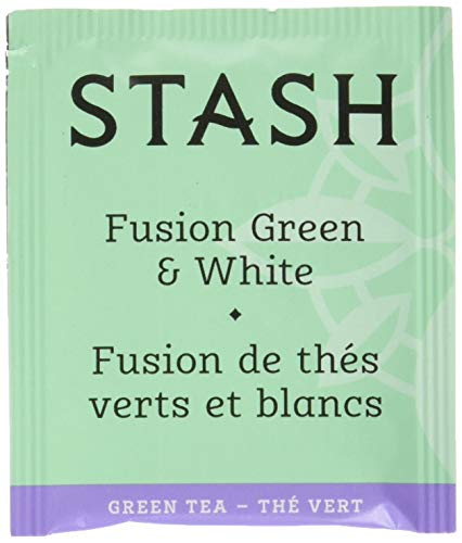 Stash Tea Fusion Green & White Tea 100 Count Tea Bags in Foil (Packaging May Vary) Individual Tea Bags for Use in Teapots Mugs or Cups, White Tea and Green Tea, Brew Hot or Iced ()