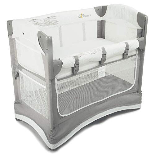 Arms-Reach-Concepts-Arms-Reach-Mini-3-in-1-Co-Sleeper-Bassinet-White-Grey-GreyWhite