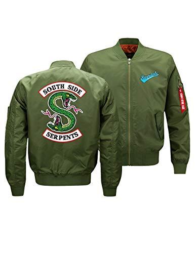 Uomo Giacche Cerniera Donna Giacca Felpa Jacket Leggera Sportiva Riverdale Tasche Sweatshirt Serpents Con Archie Autunno A Verde Invernali YqqHEPw