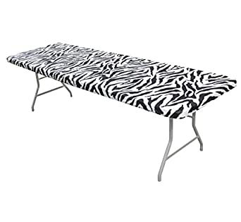 Amazon Com Kwik Covers 30 Inch X 96 Inch Zebra Fitted Table Cover