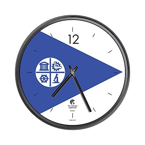 Chicago Lighthouse City Flag - Minneapolis Decorative Wall Clock, 12.75 inch, Black