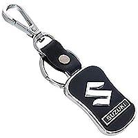 SOI Leather Chrome Car Key Chain Key Ring for Maruti Suzuki Dzire/Baleno/Swift/Wagon R/Vitara Brezza/Ertiga/Alto/Celerio/Ciaz/S-Cross/Ignis