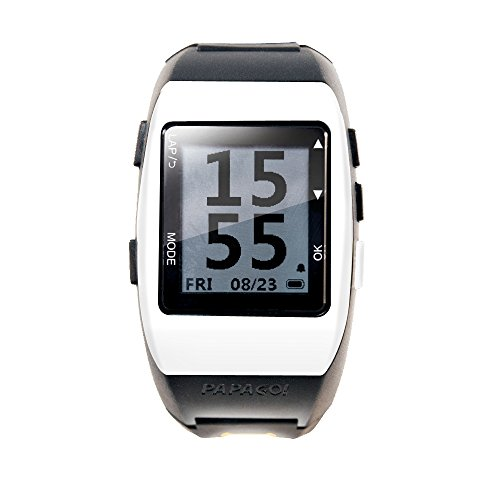 PAPAGO GLWWH-HB-US GoWatch 770 Multi-Sports GPS Watch with ANT+ Heart Rate Monitor (White) by PAPAGO