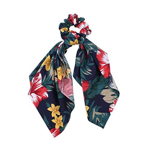 (hositor Floral Headbands, Bohemian Woman Bouquet Headband Flower Print Cross Elastic Hair Band Yoga Beach)