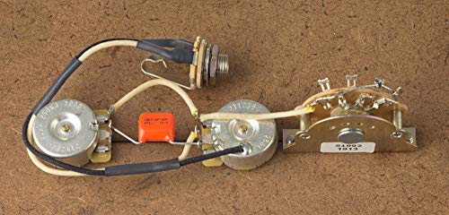 Fender Telecaster Wiring Harness For Tele-Oak/Grigsby CTS-Orange Drop-Switchcraft
