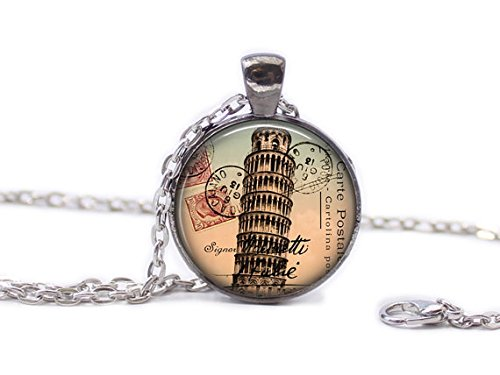- Italy Necklace Italy Jewlery Travel Necklace Wearable Art Pendant