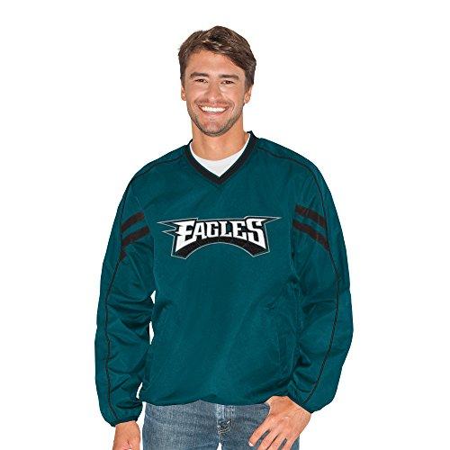 Philadelphia Eagles Mens Jackets - G-III Sports NFL Philadelphia Eagles Adult Men Red Zone V-Neck Pullover, 5X, Green