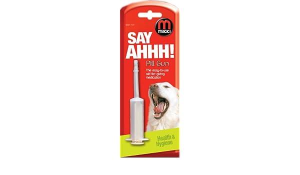 Mikki - Pistola reutilizable para dar medicación a perros y gatos: Amazon.es: Productos para mascotas