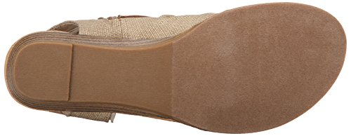 Blowfish Women's Balla Wedge Sandal, Desert Sand Rancher Canvas/Dyecut, 8 Medium US