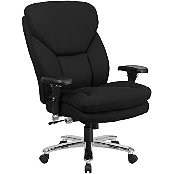 Flash Furniture HERCULES Series 24/7 Intensive Use Big & Tall 400 lb. Rated Black Fabric Executive Swivel Chair with Lumbar Knob
