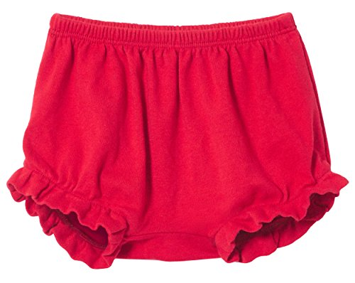 City Threads Baby Girls' and Boys' Ruffled Diaper Covers Bloomers Soft Cotton Fashionable Cute, Candy Apple, 18-24Months from City Threads