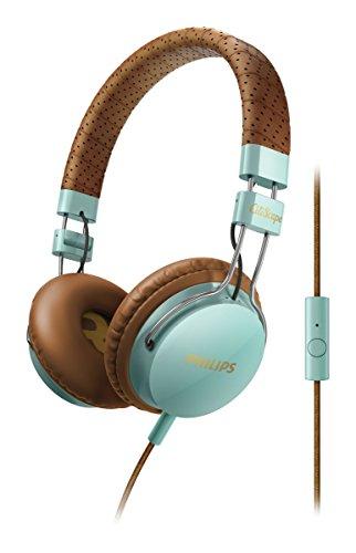 Philips SHL5505GB/00 CitiScape Foldie On-Ear-Kopfhörer mit Bügel inkl. universal Freisprech- und Faltfunktion grün/braun