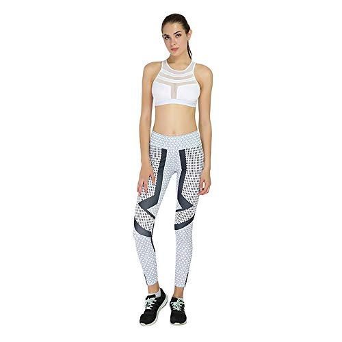 Women Leggings, Gillberry Women Sports Trousers Athletic Gym Workout Fitness Yoga Leggings Pants (Gray, L)