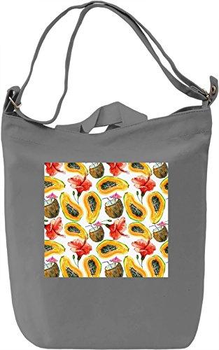 Fruit Print Borsa Giornaliera Canvas Canvas Day Bag| 100% Premium Cotton Canvas| DTG Printing|