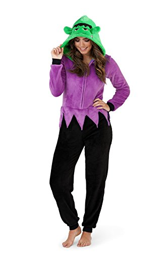 Loungeable, Ladies Luxury 3D Novelty Spooky Halloween Fancy Dress Onesie Jumpsuit , Monster Adults, Small