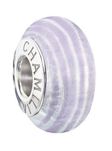 Authentic Chamilia Sterling Silver & Murano Charm Ribbon Candy - Twilight 2110-1178 by Chamilia