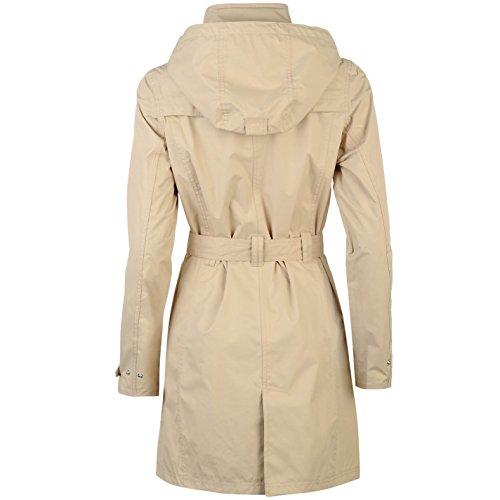 Gelert Womens Fairlight Jacket Top Coat Waterproof Hooded Full Zip Waist Belt Beige 12 (M) by Gelert (Image #1)