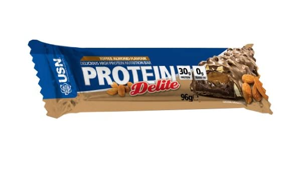 USN Protein Delite Bar Toffee Almond - 12 Barras: Amazon.es: Salud y cuidado personal