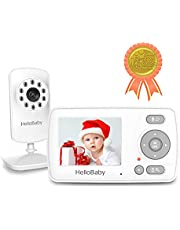 Video Baby Monitor with Camera and Audio, HelloBaby Monitor Two-Way Talk, Infrared Night Vision, baby monitor VOX Mode