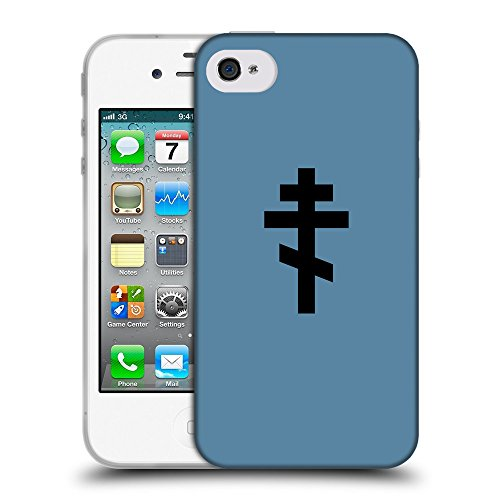 GoGoMobile Coque de Protection TPU Silicone Case pour // Q08510600 Religion 15 Aviation Bleu // Apple iPhone 4 4S 4G