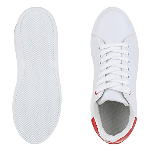 Weiss Rot Strass vie Glitzer Faible Damen Espadrille Chaussures qx0aSRx