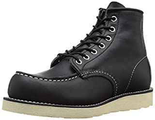 """Red Wing Men's 6"""" Moc Boot,Black Harness Leather,US 6 M (B007GO8R3U) 