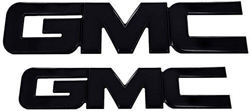 Ami 96514k Gmc Grille Tailgate Emblem Black Powder Coat 2 Pack