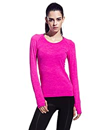 Mflying Women's Long Sleeve Quick Dry Running Shirt for Workout Hiking Gym Sport