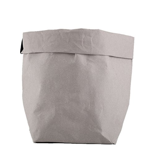 (Bulk Sell Available Decorative Washable Kraft Paper Container for Storage,Food,Planting,Gift Wrap and Pet Carrier,Toy Box,Cruelty Free)