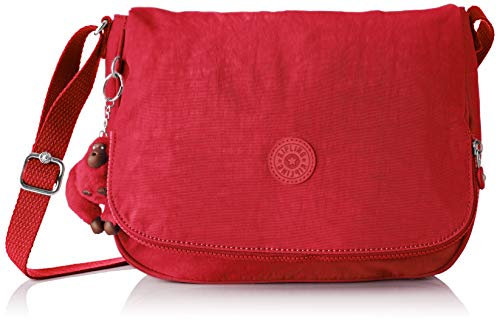 Kipling Earthbeat M, Borsa A Tracolla Donna, 30x22,5x10,5 Cm Rosso (Rouge radiant C)