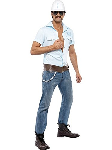 [Smiffys Village People Construction Worker Costume - Adult] (Man Construction Worker Costume)