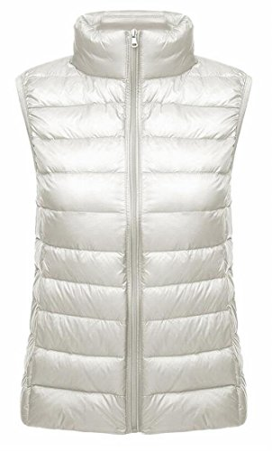 Winter Women Zip Up Slim Puffer Fit Pure Vest 2 Stand Packable Collar TTYLLMAO w5dfTqxw