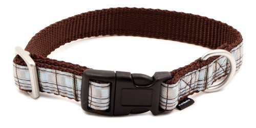 PetSafe Fido Finery Quick Snap Dog Collar, 1-Inch, Large, Summer Plaid