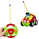 Yimosecoxiang Toys For 1-12 Years Old Boys Educational Cartoon Music Light up R/C Race Car Radio Control Toy Gift for Toddlers Kids Green + Red