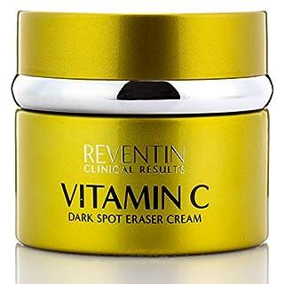 Vitamin C Dark Spot Eraser Cream Brightens Hyperpigmentation to Reduce Fine Lines and Wrinkles Dark Spot Remover Moisturizing Face Cream for Women & Men by Reventin Clinical Results, 1.5 fl oz.