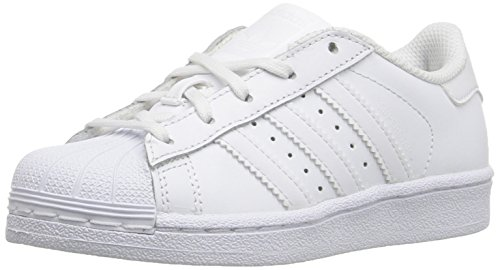 White Adidas EL White C White Kids' Superstar Sneaker Foundation U8H1Urq