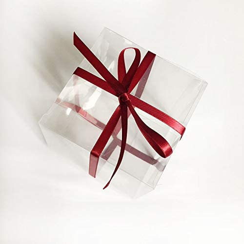 10 / 50pcs transparente la caja de regalo del caramelo de la caja ...