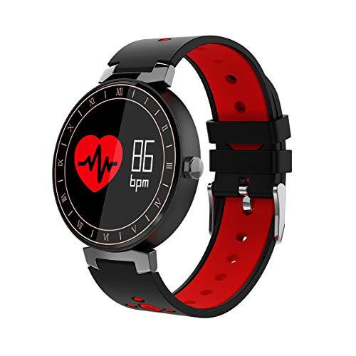C-Xka IP68 Waterproof Fitness Tracker Smart Watch with Heart Rate/Sleep/Blood Pressure Monitor for Teenager and Adult for Android iOS