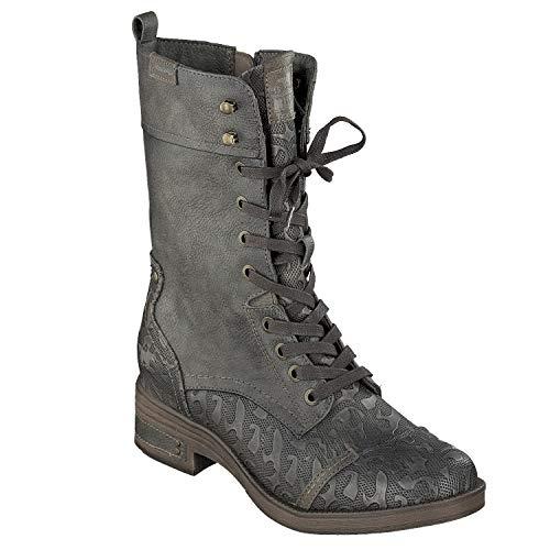 503 Schuhe 1293 Schuhgröße Stiefeletten Damen Mustang Kurzschaftstiefel Grau 38 Farbe gZw1q5W4