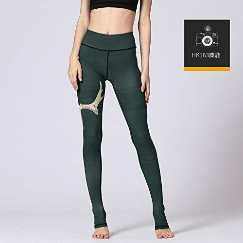 Leggings Running Hk163 Fitness Tight High Yoga Trousers Printed Waist Sport Gsyjk Women Workout Gym Pants wFaqTHI