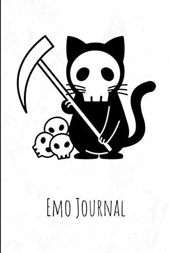 Emo Journal: Black Death Rat Skull Emotional Notebook For Teenage Boys & Girls ()