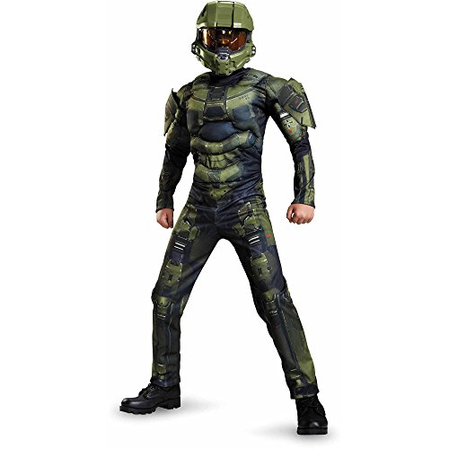[HALO Master Chief Classic Boys Child Kids Costume (L)] (Master Chief Halo Costumes For Kids)